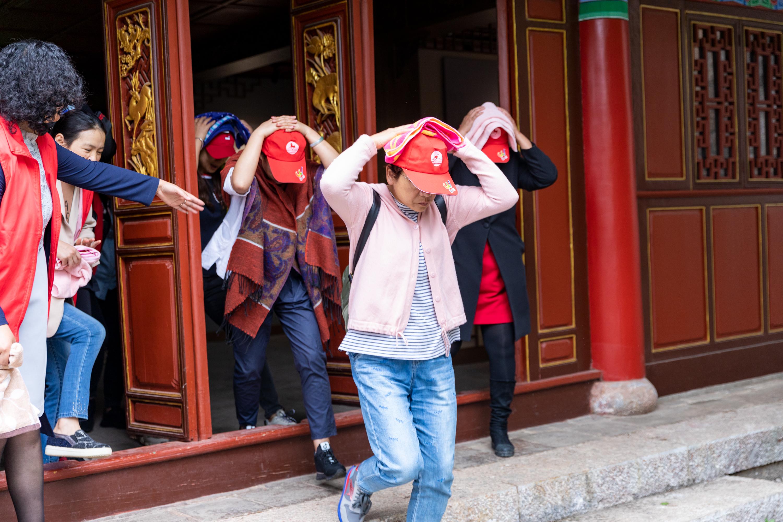 市文旅局聯合多部門開展旅游行業地震及消防應急演練